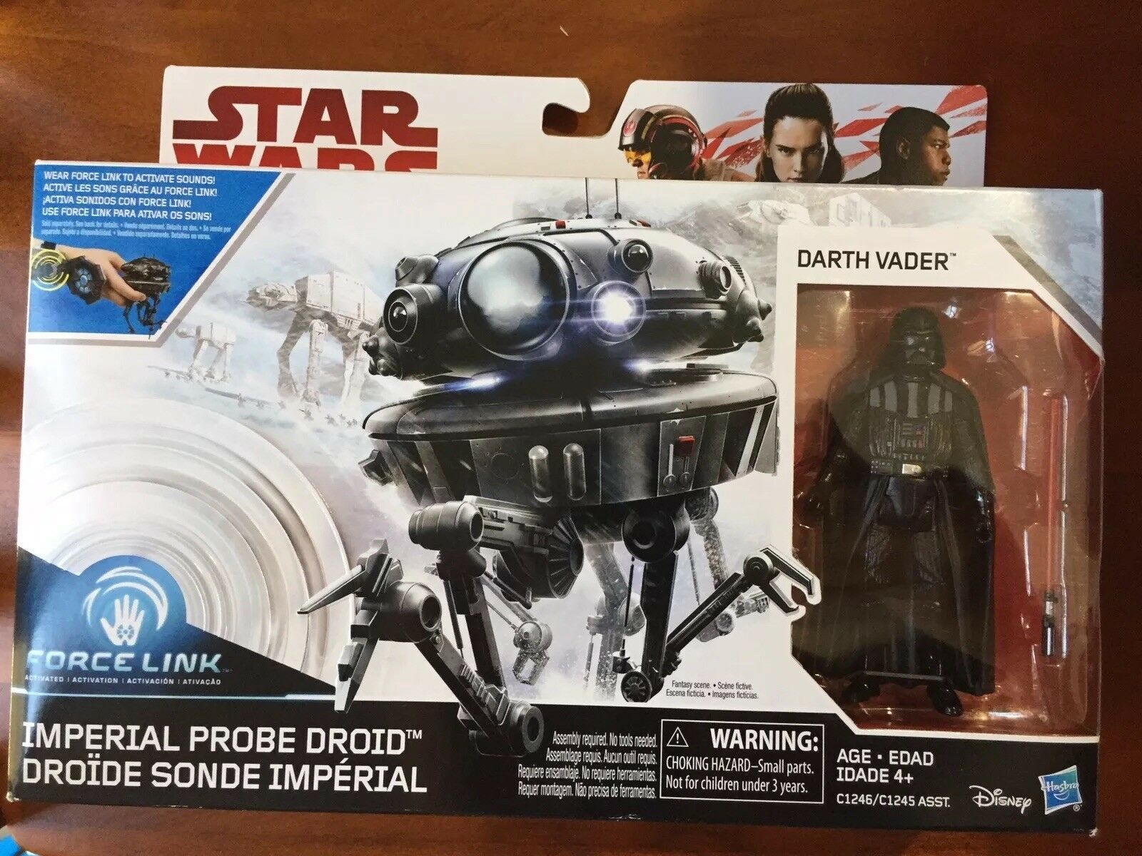 Star Wars Force Link Imperial Probe Droid & Darth Vader 3.75 Inch Sealed