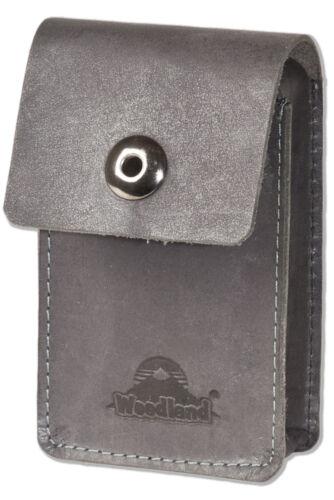 Woodland® Leder Zigarettenhülle Zigarettenetui Zigarettenbox in Anthrazit