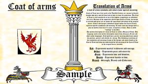 Kilchain-Kilchain COAT OF ARMS HERALDRY BLAZONRY PRINT