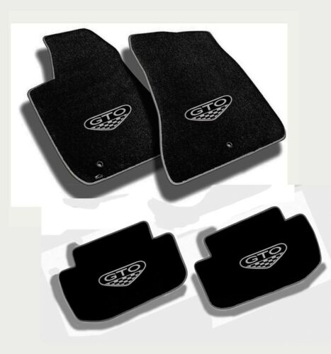 FLOOR MATS 2004 PONTIAC GTO CREST Embroidered Logo /& Premium Vinyl Edge NEW