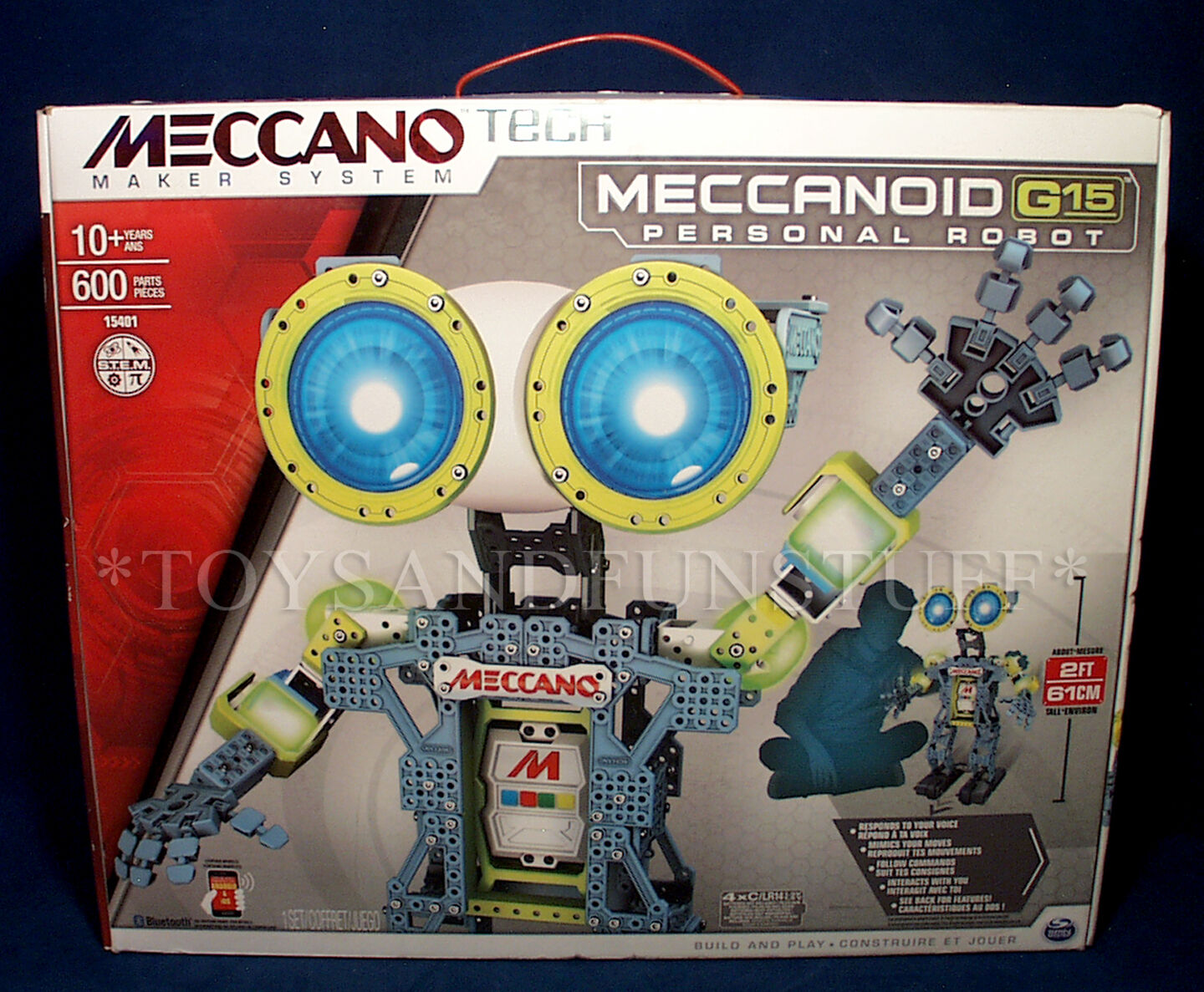 New MECCANOID G15 PERSONAL ROBOT Meccano Tech INTERACTIVE Building Set 15401