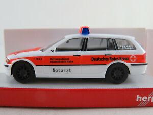 Herpa-045605-bmw-3er-Touring-034-rdc-Rheinhessen-cerca-ambulancia-034-1-87-h0-nuevo-en-el-embalaje