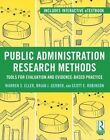 Research Methods for Evidence-based Public Management 9780415895309 Hardcover