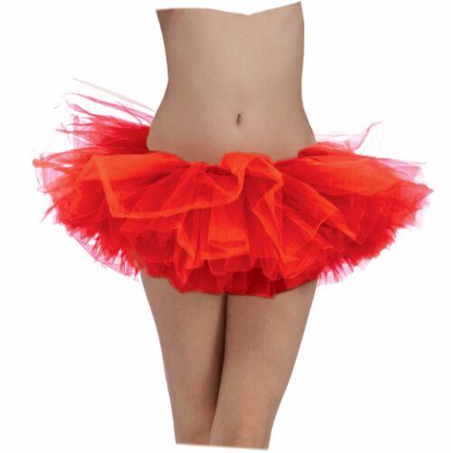 Red Adult Tutu Ballerina Ballet Pettiskirt Elastic Costume Gift Accessory Tu Tu