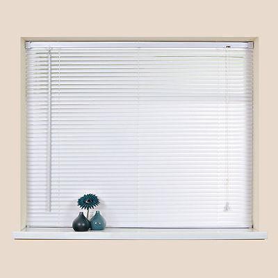"""Easy Fit PVC Venetian Window Blind Blinds In 45 x 213cm White Long Drop 18""""x84"""""""