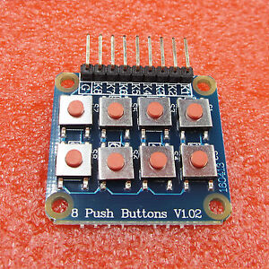 Matrix 8 Keypad Keyboard Board Module 8 Button Tactile Switch for Arduino Nice