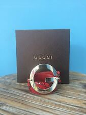 Authentic Gucci Women's Genuine Python Leather Red Belt Made in Italy 30