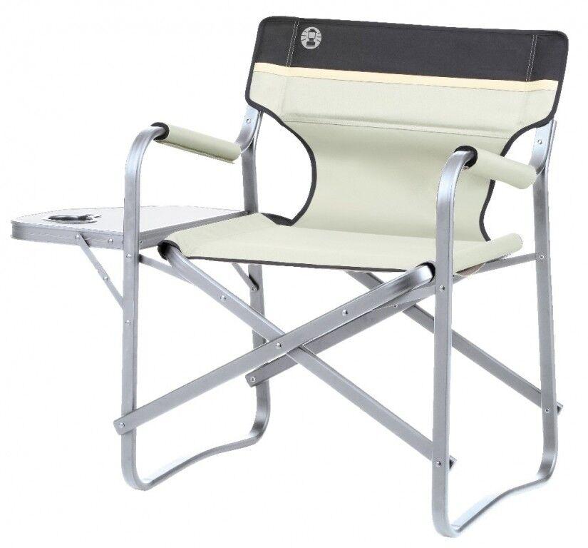 Coleman silla de camping Deck Chair con mesa caqui silla plegable