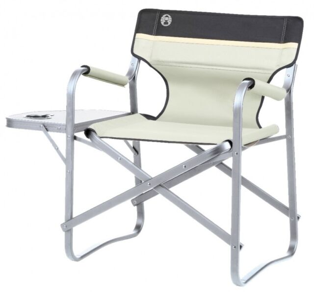 Coleman Deck Chair Khaki With Table 204066 For Sale Online Ebay