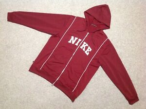 c503d92ebd44 nike zip up hoodie or tracksuit top with hood in burgundy size xl