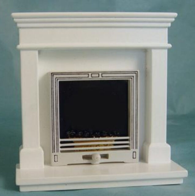 Dolls House Fireplace Hearth REAL White Marble 1:12th Scale Miniature