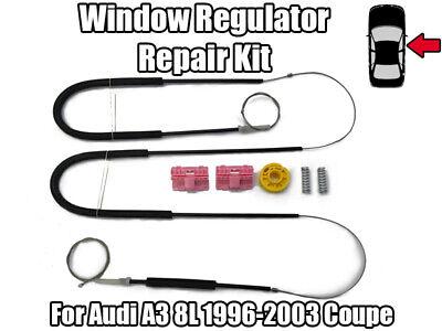 Audi a3 8 L 8l1 1996-2003 Leve Vitre 2 Porte Kit De Réparation Avant Droit 8l3837