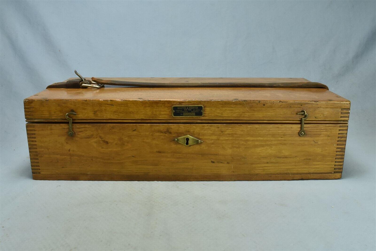 Antique KEUFFEL & ESSER SURVEYING TRANSIT #5205 #3606 ORIGINAL OAK CASE #02691