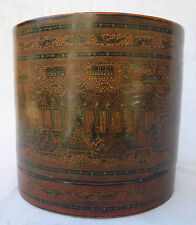 BIRMANIE boite à bétel laquée birmane 1970 Burma burmese lacqueware box