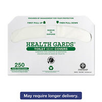 Hospital Specialty Co. Health Gards Recycled Toilet Seat Covers White 250/pk 4