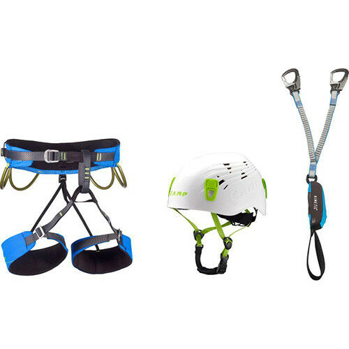 Kit Via Ferrata Complete Camp Kinetic Rewind energy helmet webbing harness