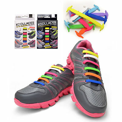 Fashionable Kool Silicon Laces 13 Color Selections Sneakers Running Shoes