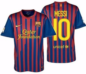 info for 5c29b 2c190 Details about NIKE LIONEL MESSI FC BARCELONA HOME JERSEY 2011/12