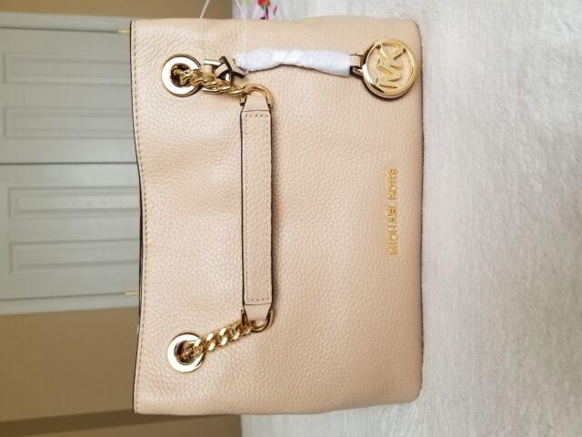 959526925a2e Michael Kors Jet Set Chain Medium Leather Shoulder Bag Messenger Oyster