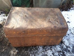 Stupendous Details About Vintage Metal Steamer Trunk Ideal Storage Toy Box Or Coffee Table Pdpeps Interior Chair Design Pdpepsorg