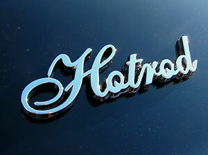 HOTROD CAR EMBLEM Metal Badge *HIGH QUALITY* suits Chev Rat Hot Rod