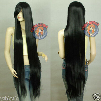 150cm cosplay wig women's long straight black hair wig wigs