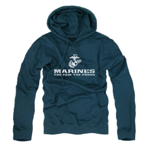 "Blue US Marines /""The Few The Proud/"" Military Hooded Sweatshirt Hoodie Hoody  XL"