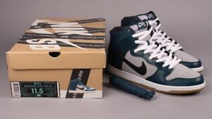 """big sale 7a2d5 0eefd Details about NIKE SB DUNK HIGH """"NEWPORT"""" UNKLE DUNKLE SUPREME Teal Rare  Size 11.5 Lobster"""