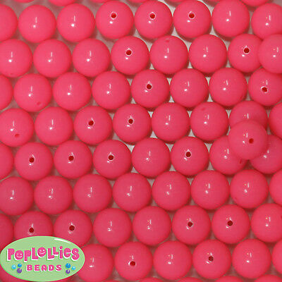 14mm Neon Lime Acrylic Solid Bubblegum Beads Lot 20 pc.chunky gumball