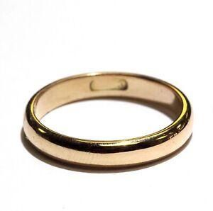 18k-yellow-gold-wedding-band-ring-4-7g-3-6mm-womens-vintage-estate-ladies