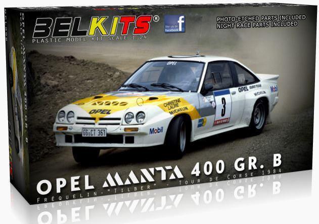 Belkits 1 24 Opel uomota 400 Gr. B Frequelin -   Tilber   - Tour De Corse 1984