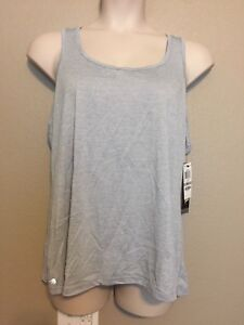 NWT-Womens-Ideology-Silver-Racer-Back-Semi-Fitted-Tank-Top-Plus-Sizes-1X-2X-3X