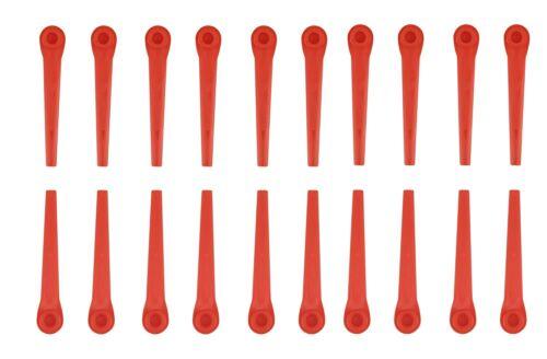 100x Ersatz Messer für Rasenmäher Rasentrimmer Rasenroboter Gardena 70x 5.5mm Yd