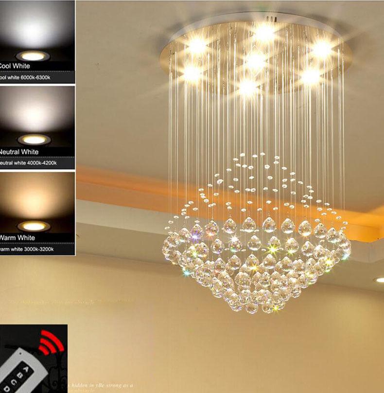 Moda Moderno candelabros de cristal dos tonos oscurecimiento Luz Luz Luz de Techo de Cristal 8162 33f130