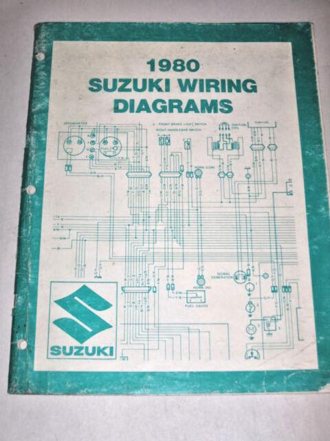 Official 1980 80 Suzuki Wiring Diagram Manual T Model