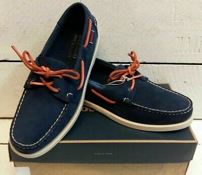 Men/'s Sebago Dockside Portland Navy Nubuck Leather Lace Up Deck Boat Shoes Size