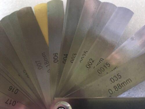 1pc 32 Blades Feeler Gauge Dual Reading Combination Feeler Gauge for Metric//SAE