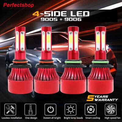 4pcs 9005+H11 H8 H9 360W LED Headlight Bulb High Low Beam Combo Kit 6000K White