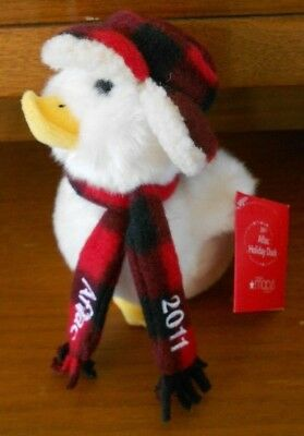 "In Workmanship Amiable Macys Plush Aflac Holiday Talking Duck 6"" From 2011 Plaid Scarf Cap Exquisite"