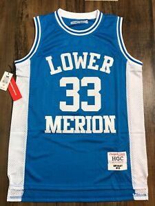 Details about KOBE BRYANT Lower Merion BLUE High School Basketball Jersey Authentic Headgear