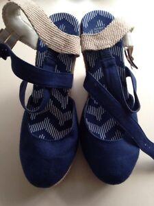 Navy blue sandals size 3