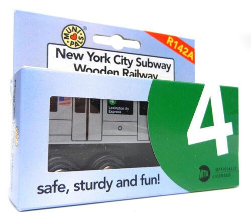 Munipals MP01-1104 Wooden Subway Train New York City MTA NYC-4 Lexington Ave Exp