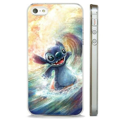 Lilo Stitch Surf Amazing Art claro caso cubierta teléfono se adapta iPhone 5 6 7 8 X