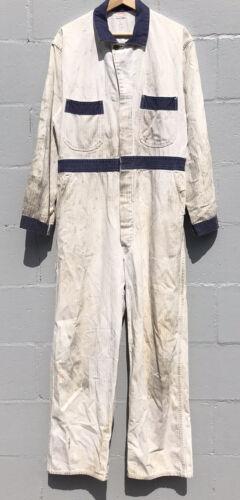 VTG 1930s 1940s Coverall MFG CO Herringbone Garage