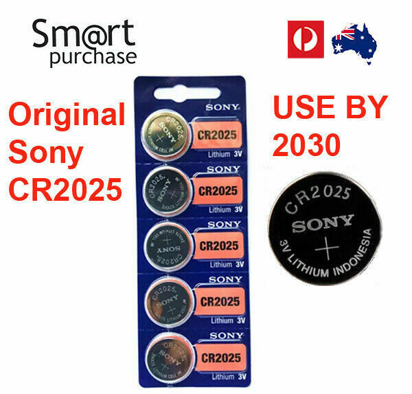 Original Sony CR2025 3V 160mAh Lithium Cell Coin Batteries Expiry 2030 x