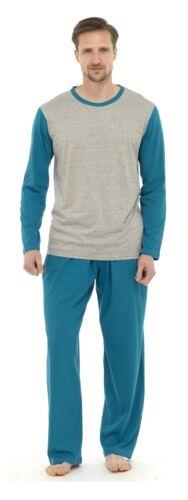 Da Uomo Moderno CASUALS cotone lungo PYJAMA Sleepwear Giarrettiera ht337a
