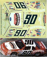 NASCAR DECAL #90 RED BARON 1987 FORD THUNDERBIRD KEN SCHRADER