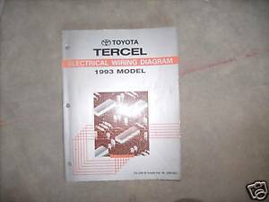 1993 TOYOTA TERCEL Electrical Wiring Diagrams Service Shop ...