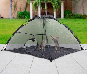 Foldable Outdoor Pet Tent Dog Cat Camping Mesh Enclosure Pop up Shelter w/Bag US