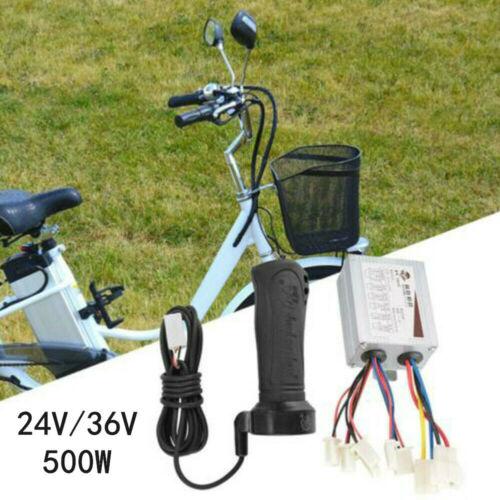 Scooter 24//36V 500W Motor Brushed Speed Controller Throttle Twist Grip E-Bike